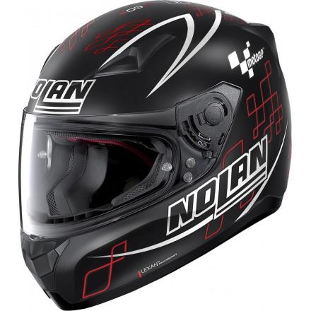 Casco Nolan N60-5 Moto GP opaco flat black 89 integrale fullface helmet casque