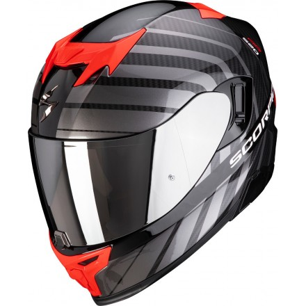 Casco integrale Scorpion Exo 520 Shade nero rosso black red fullface helmet casque