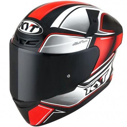 Casco integrale moto Kyt TT-Course Tourist nero rosso red fluo helmet casque