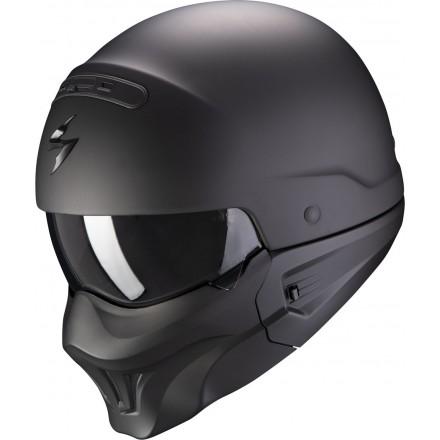 Casco vintage naked urban scrambler cafe racer Scorpion exo Combat Evo nero opaco matt helmet casque