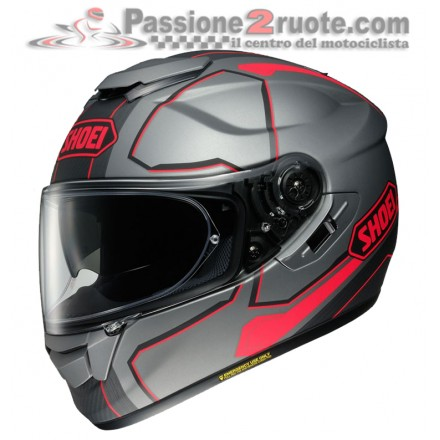 Casco integrale moto Shoei Gt-Air Pendulum nero grigio rosso black grey red TC-10 helmet casque