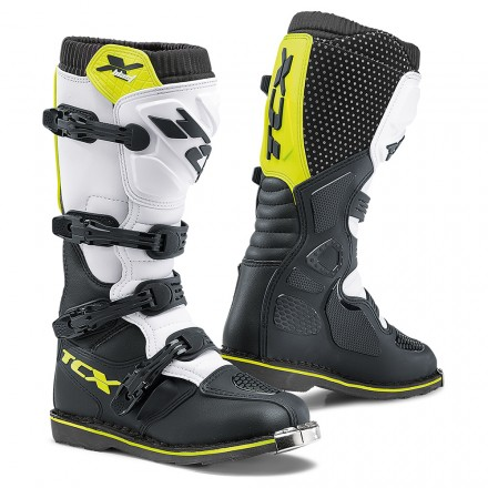 Stivali moto cross enduro motocross Tcx X-blast nero bianco giallo black white yellow off road mx off road boots