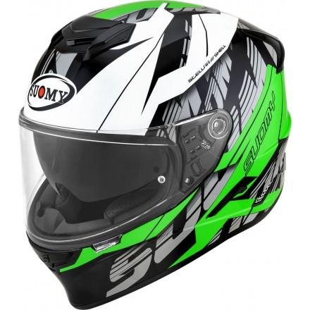 Casco integrale moto Suomy Stellar Corner verde green helmet casque