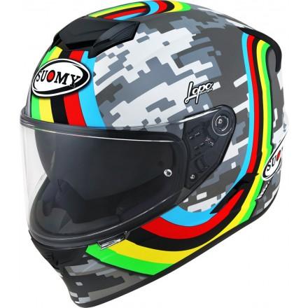 Casco integrale moto Suomy Stellar Rainbow helmet casque