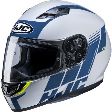 Casco Integrale moto Hjc Cs-15 Mylo bianco blu white blue MC24 helmet casque