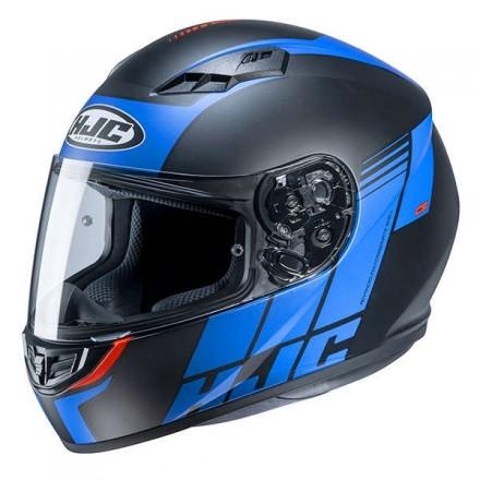 Casco Integrale moto Hjc Cs-15 Mylo nero blu black MC2 helmet casque