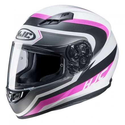 Casco Integrale donna moto Hjc Cs-15 Rako Bianco fucsia white MC8 helmet casque