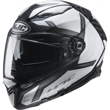 Casco integrale moto Hjc F70 Dever nero bianco MC5sf black white helmet casque