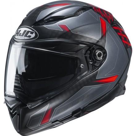 Casco integrale moto Hjc F70 Dever nero grigio rosso MC1sf black grey red helmet casque