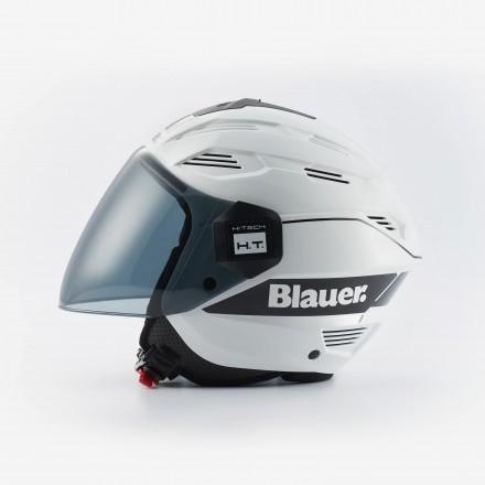 Casco Blauer Brat bianco nero white black helmet casque