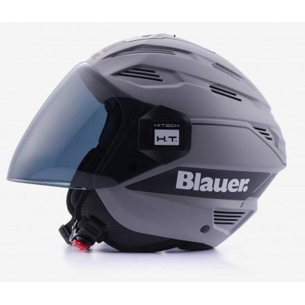 Casco Blauer Brat grigio opaco nero grey mat black helmet casque