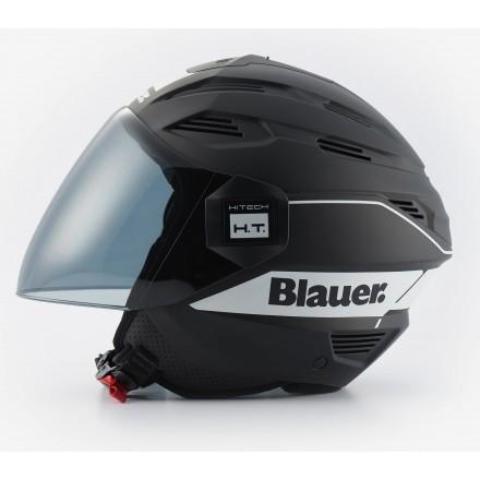 Casco Blauer Brat nero opaco bianco mat black white helmet casque