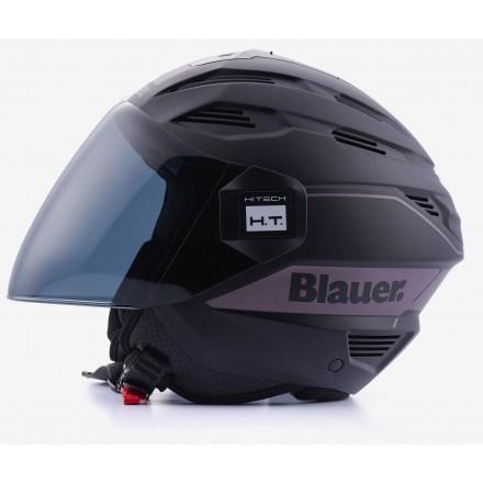 Casco jet Blauer Brat titanio opaco mat titanium reflex helmet casque