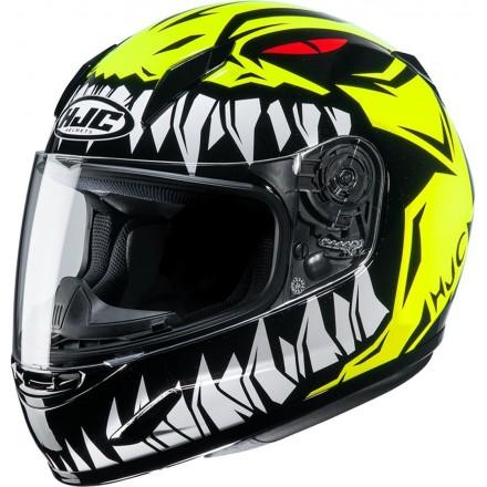 Casco integrale moto donne bambini Hjc CL-Y Zucky giallo yellow Mc4 lady young helmet casque