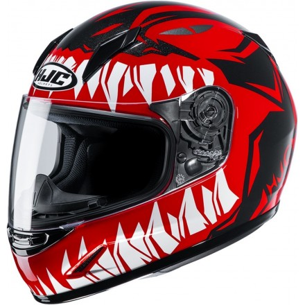 Casco integrale moto donne bambini Hjc CL-Y Zuky rosso red Mc1 lady young helmet casque