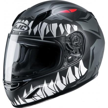 Casco integrale moto donne bambini Hjc CL-Y Zucky nero black Mc5 lady young helmet casque