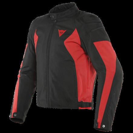 Giacca moto Dainese Mistica Tex nero rosso Black lava red jacket