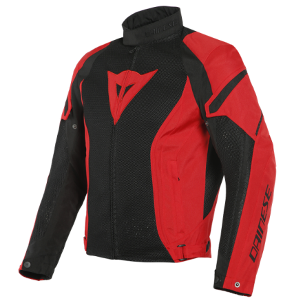 Giacca moto Dainese Air Crono 2 Tex nero rosso black lava red spring summer jacket