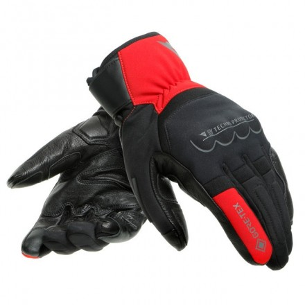 Guanti invernali moto Dainese Thunder goretex nero rosso Black red winter gloves