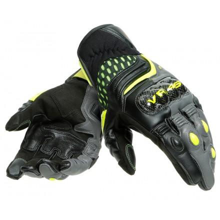 Guanti pelle moto Dainese VR46 Sector Valentino Rossi leather gloves pista corsa