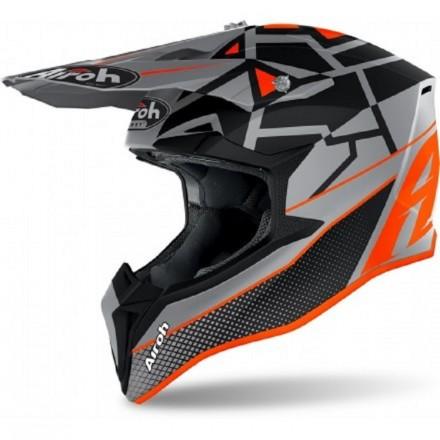 Casco bambino moto cross Airoh Wraap youth Mood arancione orange enduro motard off road helmet casque