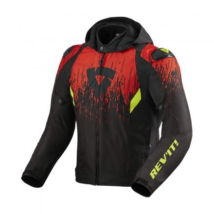 Giacca Revit Quantum 2 h2o nero rosso black red jacket
