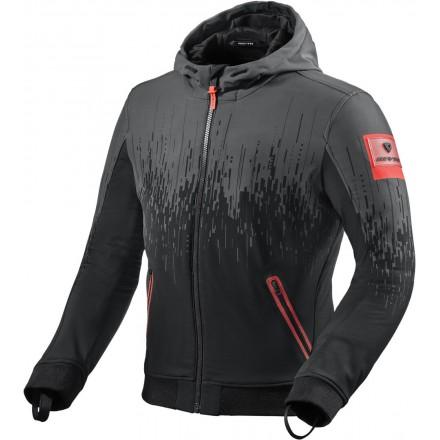 Giacca Revit Quantum 2 WB nero rosso black neon red jacket