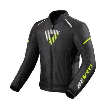 Giacca Rev'it Sprint h2o nero giallo black yellow jacket