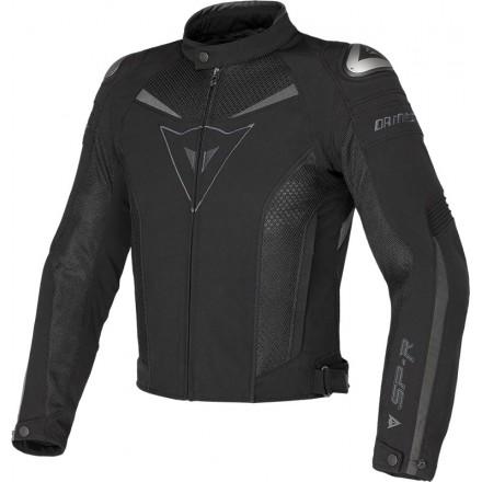 Giacca Giubbotto moto sportivo racing Dainese Super Speed Tex black jacket