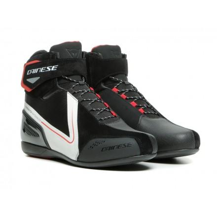 Scarpe moto Dainese Energyca WP nero bianco rosso black white red impermeabili waterproof shoes