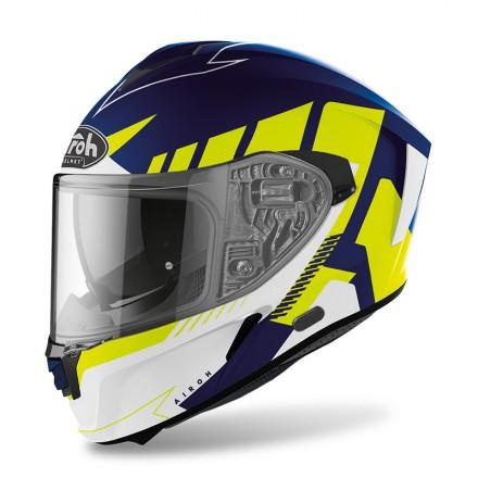 Airoh Spark Rise blu giallo fluo yellow blue helmet casque