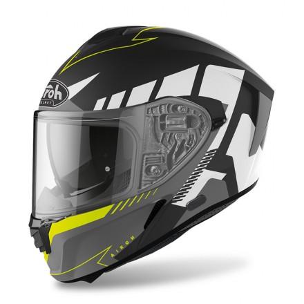 Airoh Spark Rise nero opaco giallo fluo yellow black matt helmet casque