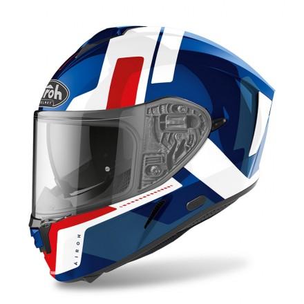 Airoh Spark Shogun bianco rosso blu red white helmet casque
