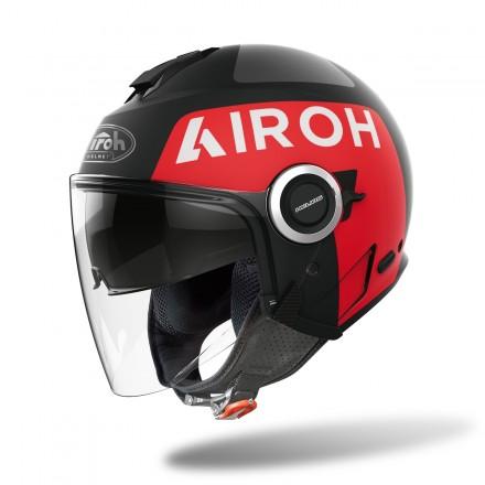 Airoh Helios UP nero opaco rosso black matt red helmet casque