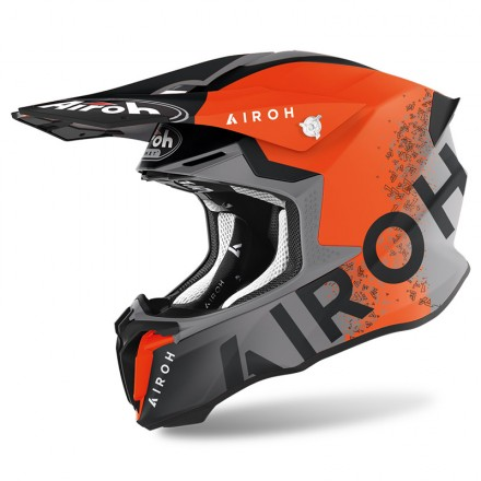 Casco Airoh Twist 2.0 Bit Antracit opaco arancione orange matt enduro motard off road helmet casque