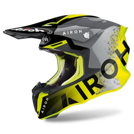 Airoh Twist 2.0 Bit Antracite giallo fluo yellow gloss enduro motard off road helmet casque