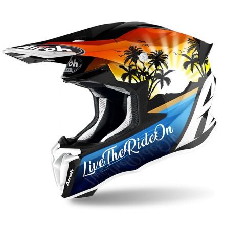 Casco moto cross Airoh Twist 2.0 Lazyboy enduro motard off road helmet casque
