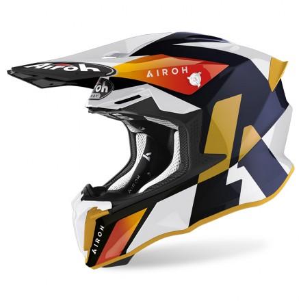 Airoh Twist 2.0 Lift bianco white gloss enduro motard off road helmet casque