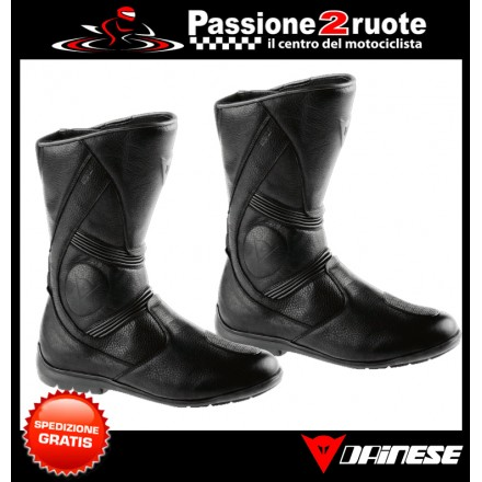 Stivali pelle moto touring Dainese Fulcrum goretex black leather Boots