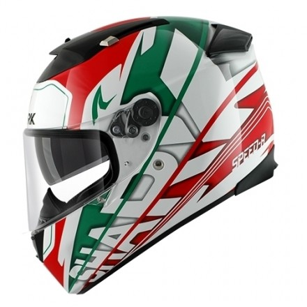 Casco integrale moto Shark Speed-r Craig white green red helmet