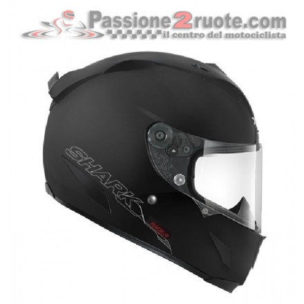 Casco integrale moto fibra Shark Race-R Pro nero opaco black matt helmet casque