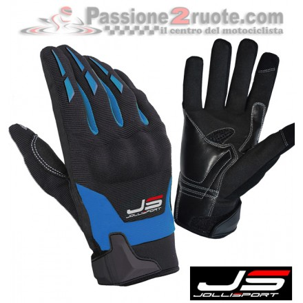 Guanti Jollisport Sonny Nero Blu moto gloves