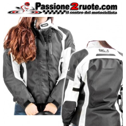 Giacca moto donna Oj Unstoppable Lady black White jacket