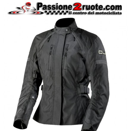 Giacca moto donna impermeabile Oj Unstoppable Lady nero black jacket