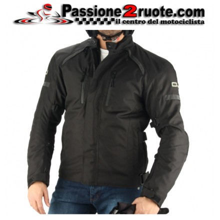 Giacca moto 4 stagioni sfoderabile impermeabile Oj Unstoppable black jacket