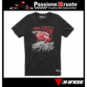 T-shirt moto Dainese Fast Nero rosso black red