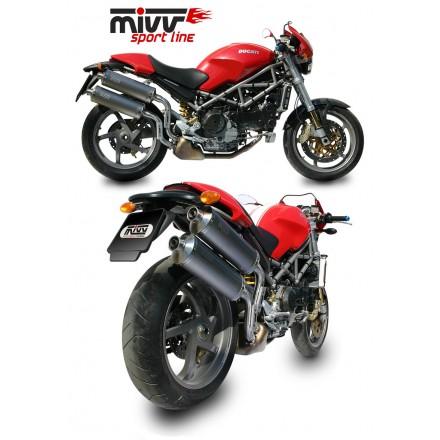 Scarichi Mivv Oval Classic Titanio Ducati Monster S2R - D.011.L4