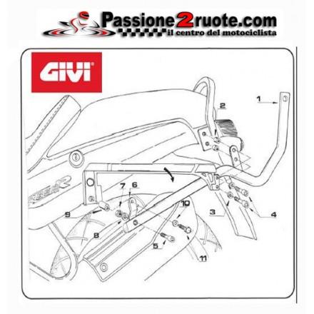 Attacco bauletto posteriore Bmw R850 R Givi 635F rear rack