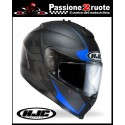 Casco integrale moto Hjc Is 17 Mission Mc2 nero opaco blu black matt blue helmet