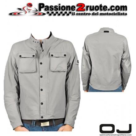 Giacca moto scooter impermeabile Oj Life grigio tianio waterproof jacket